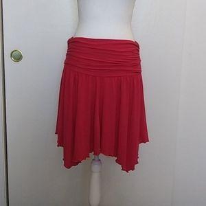 💗French Connection Hot Pink Flirty Hemline Skirt